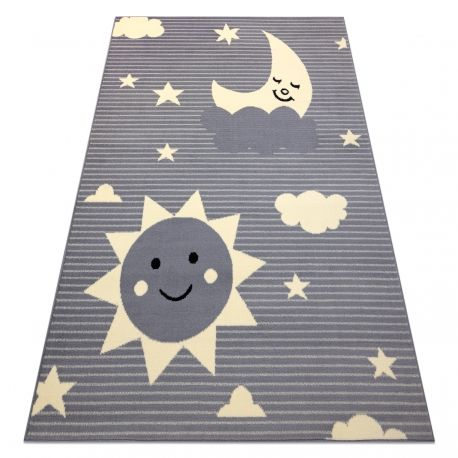 Dywan BCF FLASH Sky 4001 - Niebo, gwiazdy szary 120x160 cm