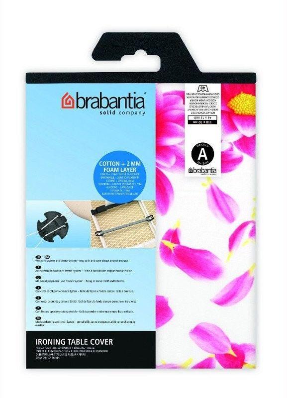 Brabantia - pokrowiec na deskę do prasowania 124 x 45cm - pianka 2mm - pink santini