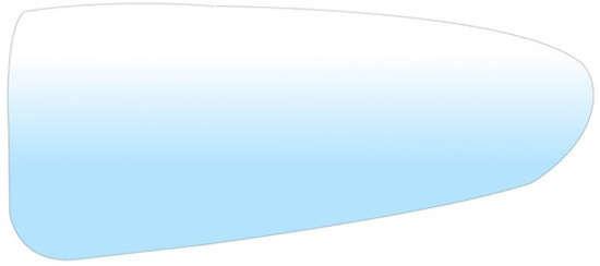 wkład lusterka mały / sferyczny Ford Transit Custom - P zamiennik