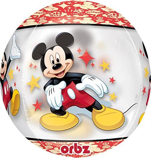 Folat 34589-01A Disney Mickey i przyjaciele balon foliowy Diamondz ''Happy Birthday'' kropki - 38 x 43 cm, wiele kolorów, 1 szt