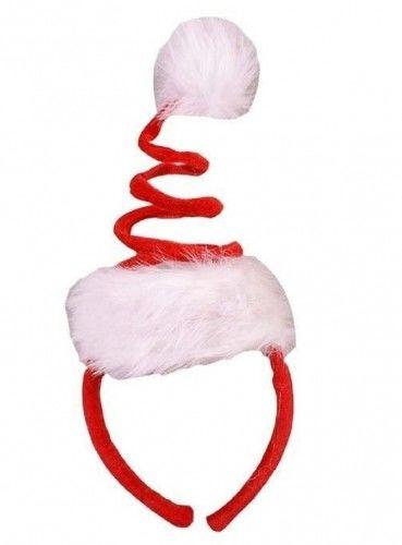 Opaska Świąteczna Czapka Sprężynka