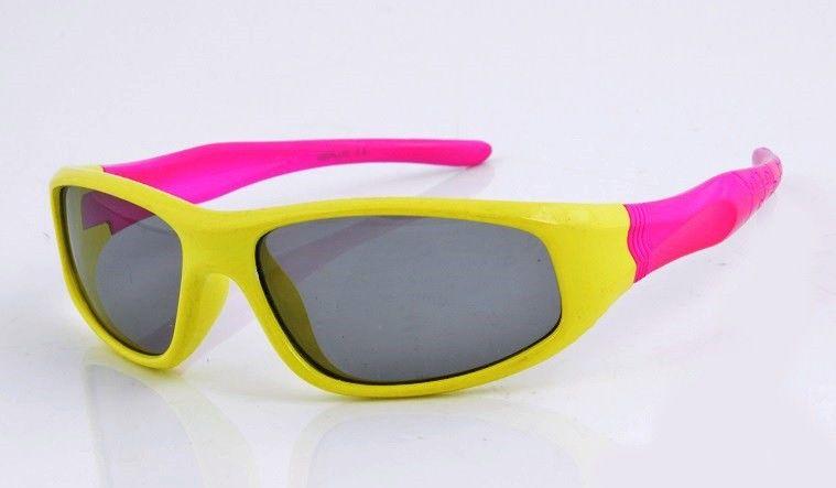 Okulary dla dzieci przeciwsłoneczne 8024 żółto-różowe