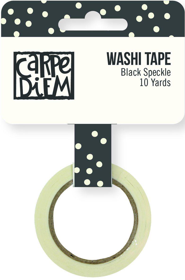 Simple Stories Carpe Diem czarna taśma Washi, papier, wielokolorowa, 4,6 x 4,6 x 1,5 cm