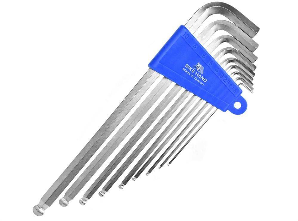 Zestaw kluczy imbusowych Bike Hand YC-623 9 sztuk 1.5-10 mm