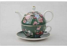P4Y, filiżanka z czajniczkiem Tea for one FLOWERS, kwiaty