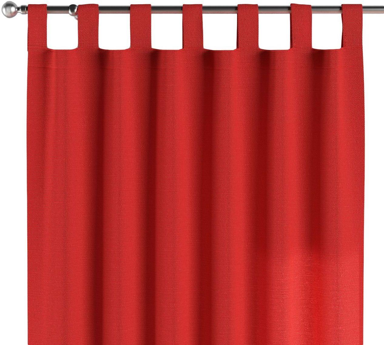 Zasłona na szelkach 1 szt., czerwony, 1szt 130  260 cm, Loneta