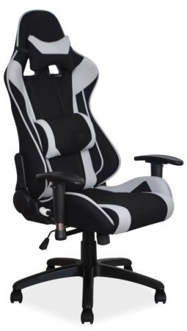 Fotel VIPER czarny/szary gamingowy z regulacją oparcia  KUP TERAZ - OTRZYMAJ RABAT