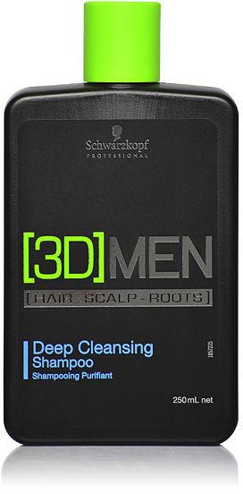 Schwarzkopf 3DMen Deep Cleansing Shampoo Szampon głęboko oczyszczający 250 ml