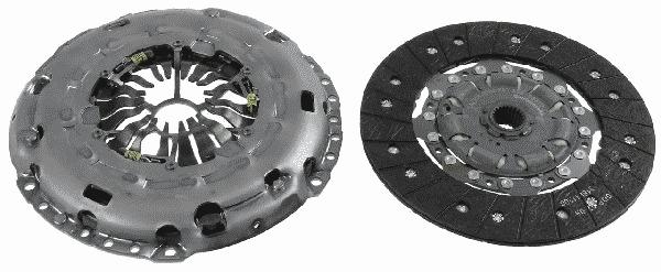 komplet sprzęgła Sachs - 2.0 TDCI (wersja koła LUK)