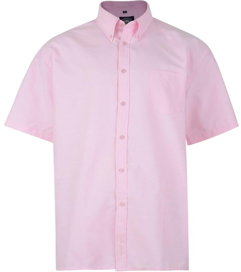 KAM 663A S/S Koszula Męska Różowa Duże Rozmiary