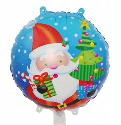 Balon świąteczny z Mikołajem
