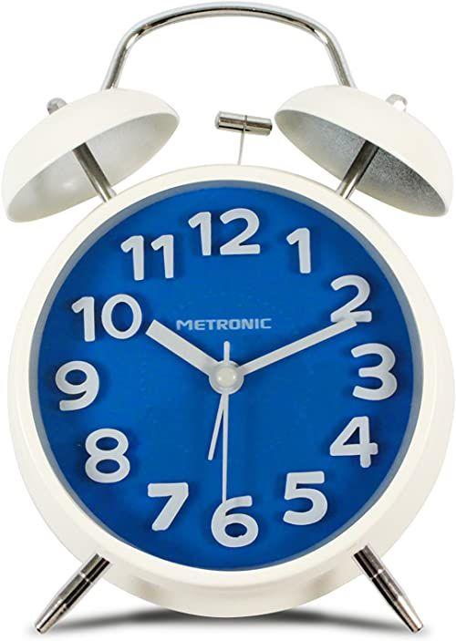 Metronic budzik w stylu vintage, niebieski, jeden rozmiar