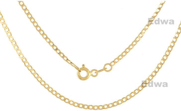 Łańcuszek złoty, wzór pancerka, pr.585. 55 cm