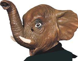 Ciao 30163  maska słoń z lateksu, brązowa