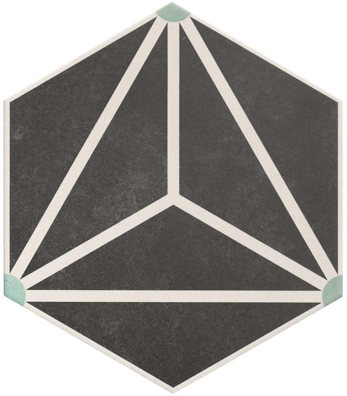 Osaka Charcoal 28,5x33 płytka heksagonalna