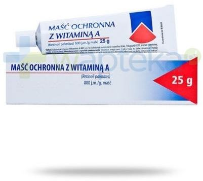 Hasco maść ochronna z witaminą A 800 j.m./g 25 g