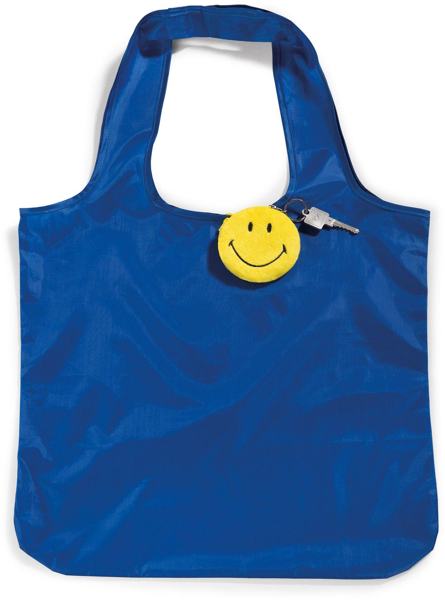 Nici 41533 Smiley składana torba na zakupy z zawieszką, dżinsy, 8 cm