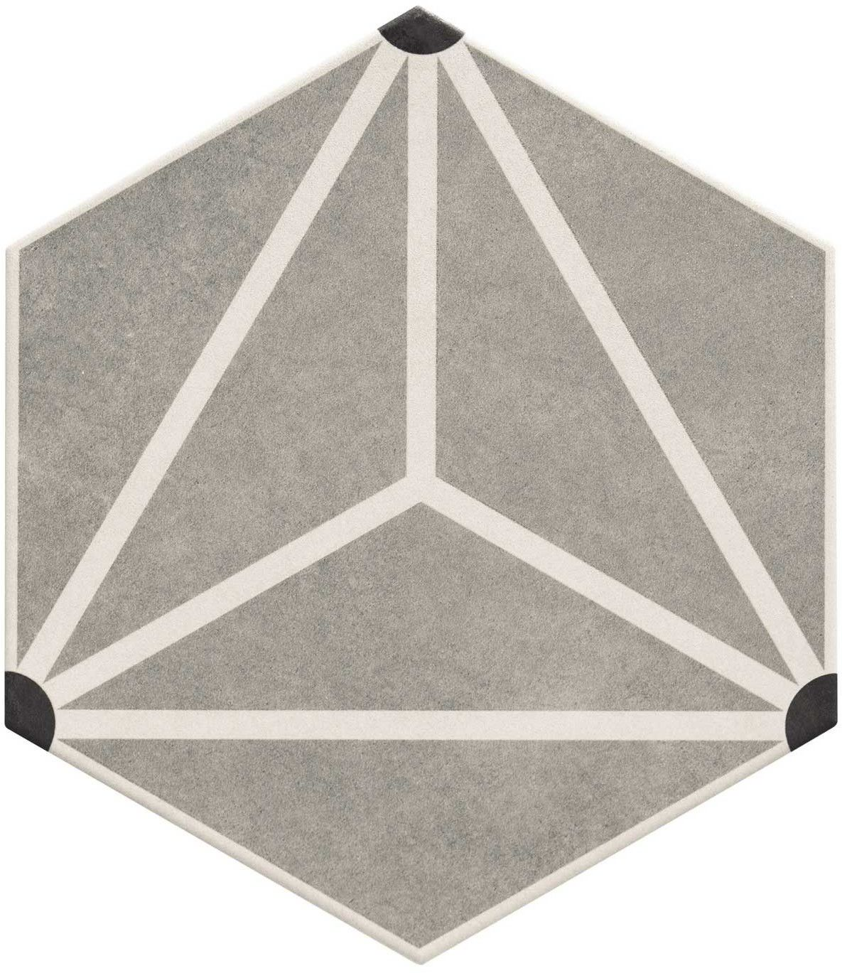 Osaka Grey 28,5x33 płytka heksagonalna