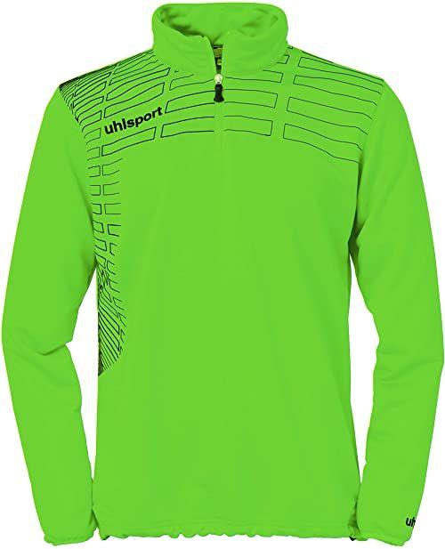 uhlsport Sweter Match Zip Top, zielony Flash/czarny, XXS