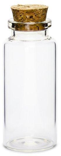 Szklane buteleczki z korkiem 7,5cm 12 sztuk GB1
