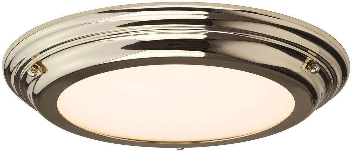 Plafon Welland BATH/WELL/F PB Elstead Lighting klasyczna oprawa w kolorze polerowanego mosiądzu