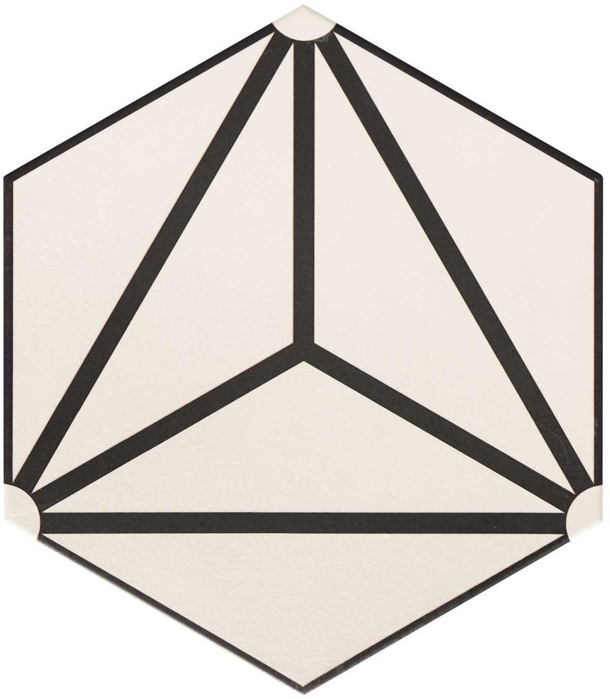 Osaka White 28,5x33 płytka heksagonalna
