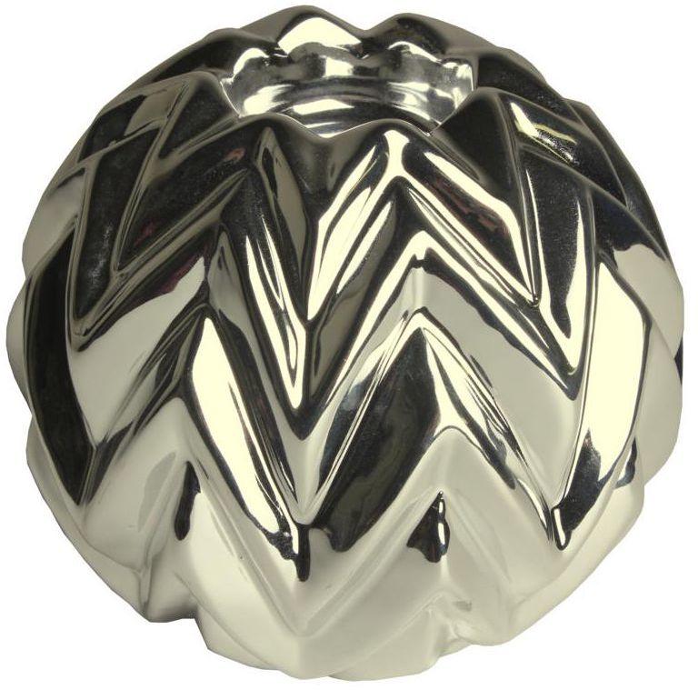 Świecznik ceramiczny Huron wys. 11.3 cm złoty