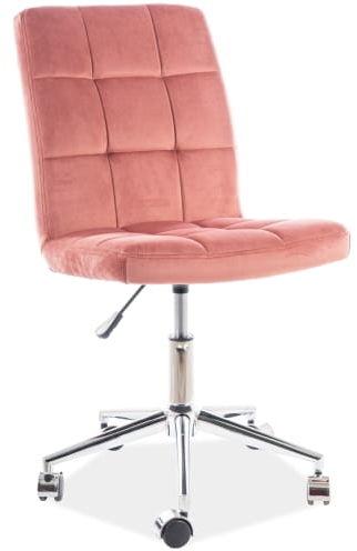 Fotel obrotowy Q-020 VELVET ant. róż aksamitny