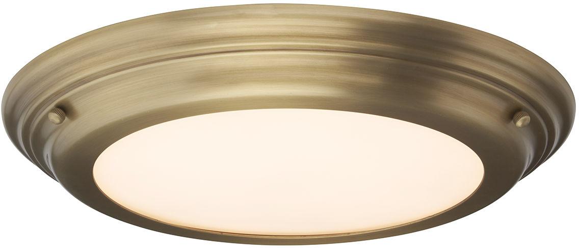Plafon Welland BATH/WELL/F AB Elstead Lighting klasyczna oprawa w kolorze antycznego mosiądzu