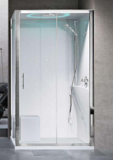 Novellini Eon kabina prostokątna z hydromasażem 120x80 prawa EON2P129DT1-1AK