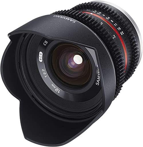 Samyang 12 mm T2.2 VDSLR ręczna ostrość obiektywu wideo do Fuji X
