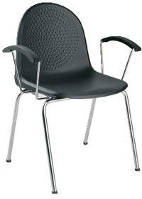 NOWY STYL Krzesło AMIGO ARM chrome