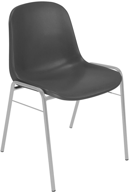 NOWY STYL Krzesło BETA alu/black