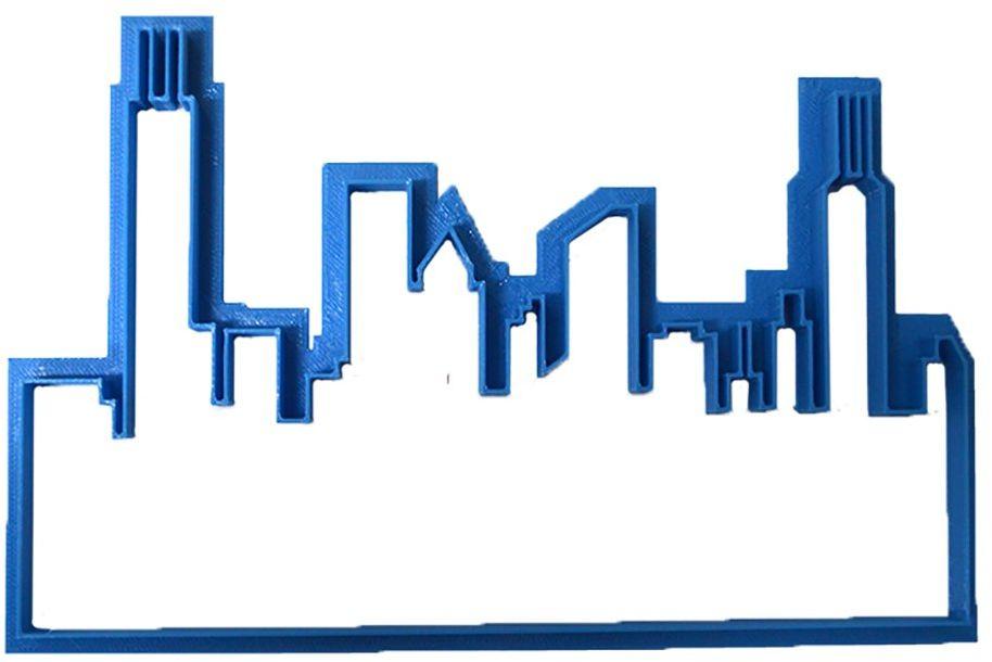 Cuticuter Building krajalnica do masy cukrowej, niebieska, 8 x 7 x 1,5 cm