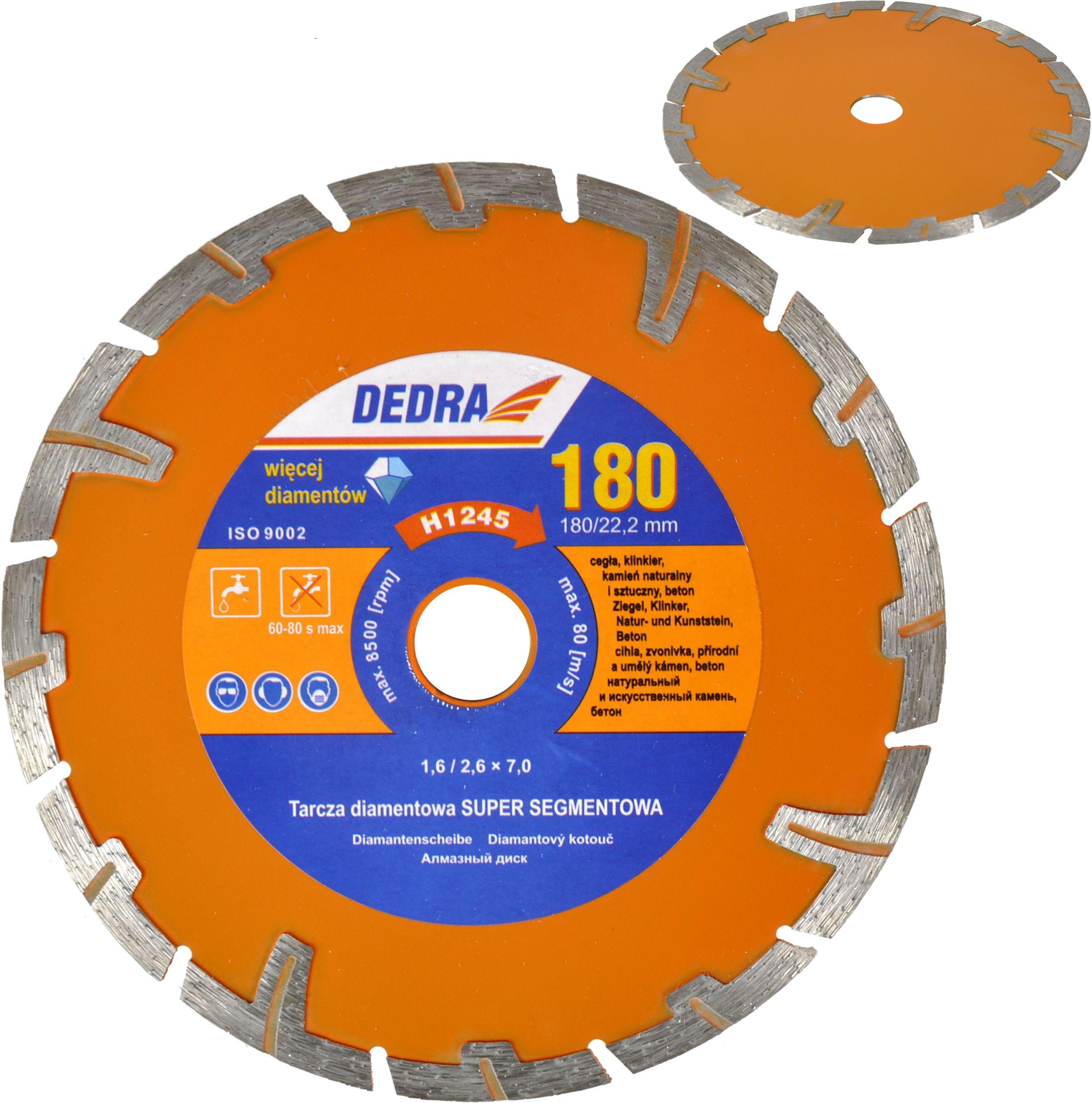 Tarcza diamentowa do betonu 115mm super segment