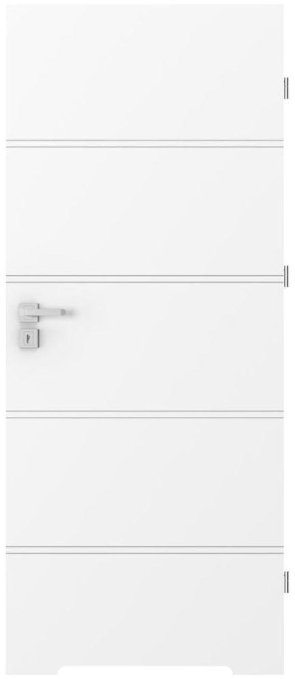 Skrzydło drzwiowe z podcięciem wentylacyjnym TRIM Białe 80 Prawe PORTA