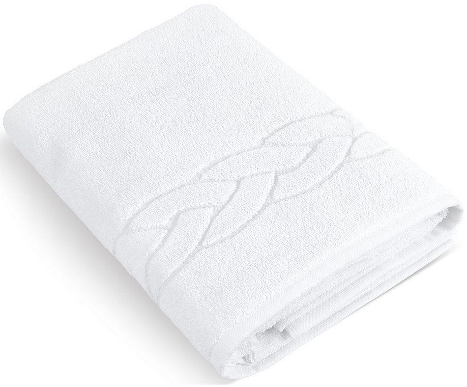 Hotelowy ręcznik kąpielowy biały, 70 x 140 cm, 70 x 140 cm