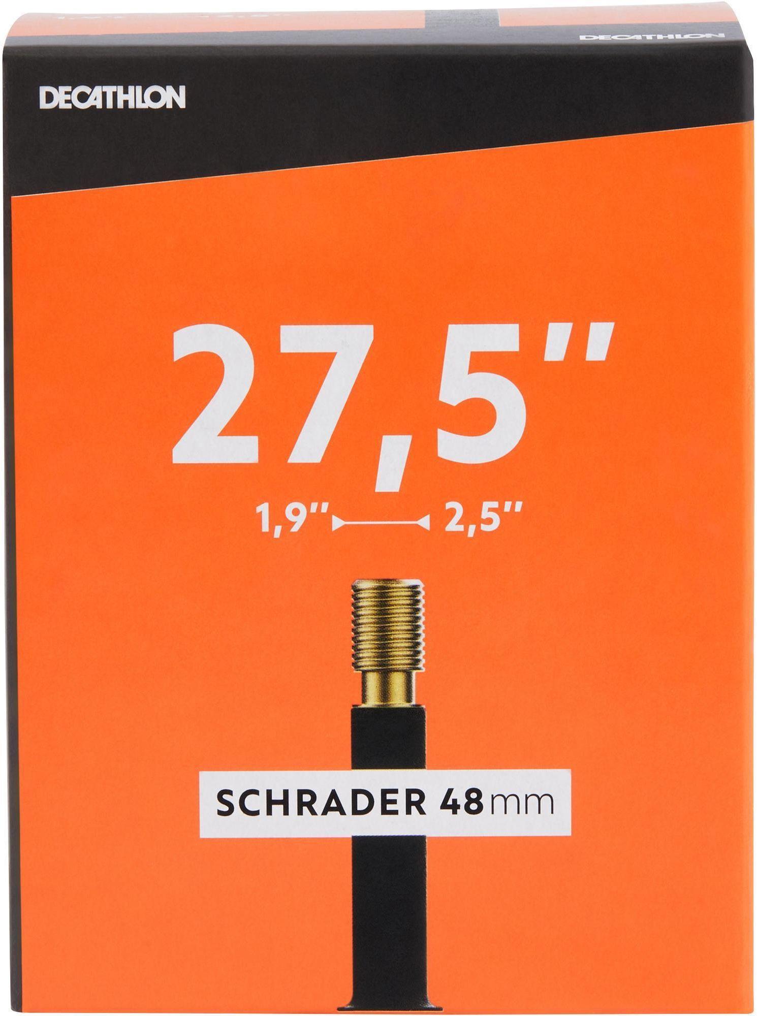 """DĘTKA ROWEROWA 27,5""""x1,9/2,5 Z WENTYLEM SCHRADER 48 MM"""