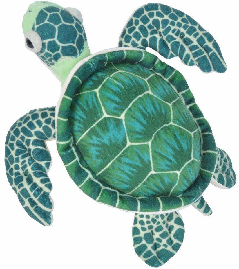 Wild Republic 10894 22460 pluszowy żółw, Cuddlekins przytulanka pluszowa 20 cm, zielona
