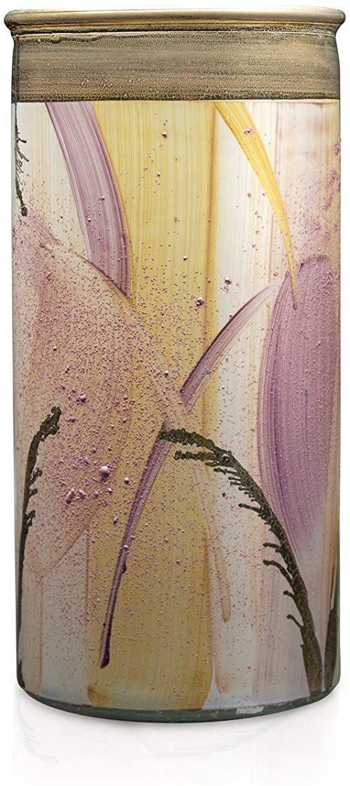 Angela Neue Wiener Werkstätte Wazon cylindryczny shabby Candy Wazony z kolorowego szkła, różowy, 10 cm
