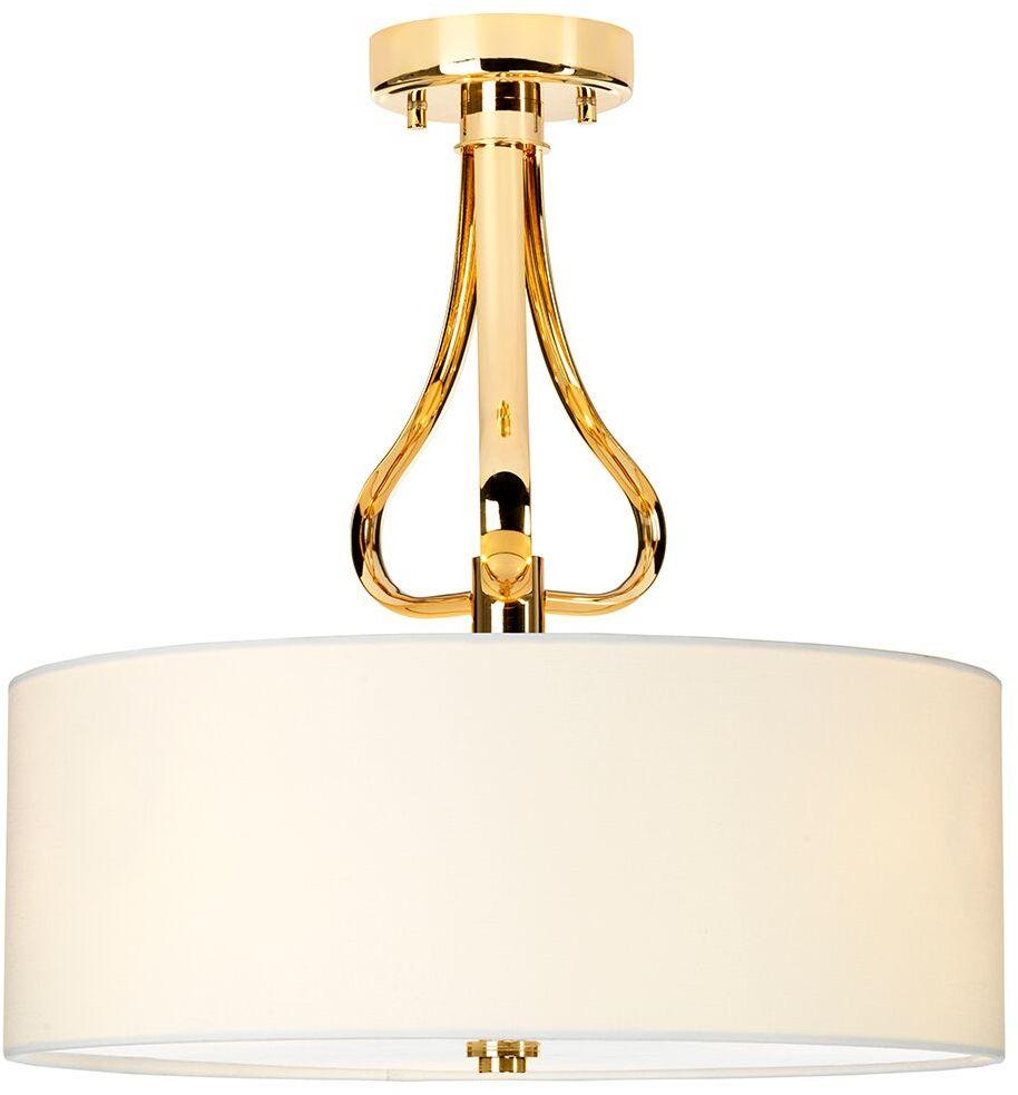 Plafon Falmouth BATH/FALM/SF FG Elstead Lighting dekoracyjna oprawa w kolorze biało-złotym