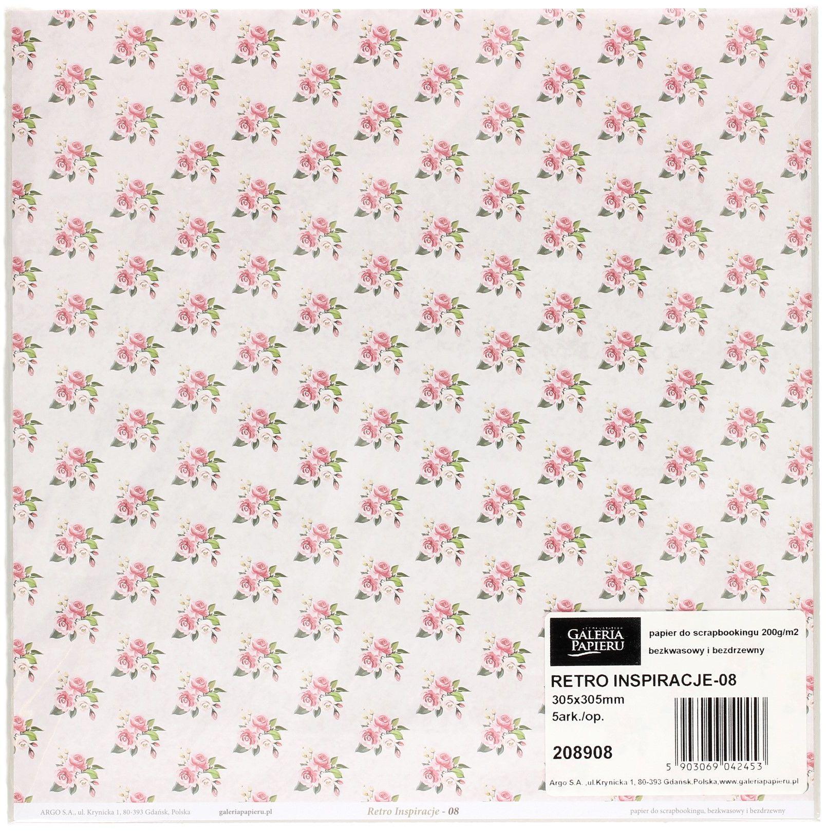 Papier scrapbooking 305x305 Retro Inspiracje/08 (5)