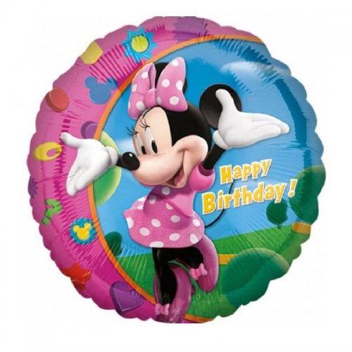 Balon foliowy Myszka Mini, Minnie Happy Birthday