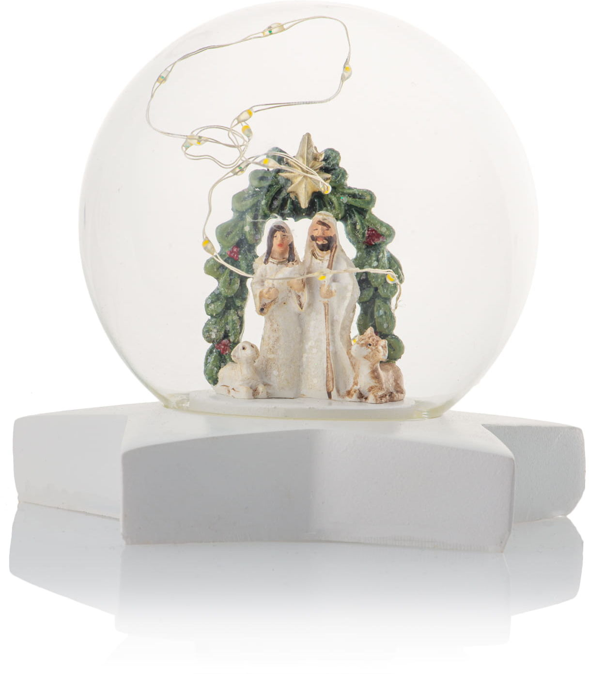 Figurka kula ze Świętą Rodziną, LED