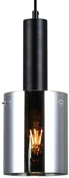Sardo lampa wisząca 1-punktowa czarna/dymiona PND-5581-1-BK+SG