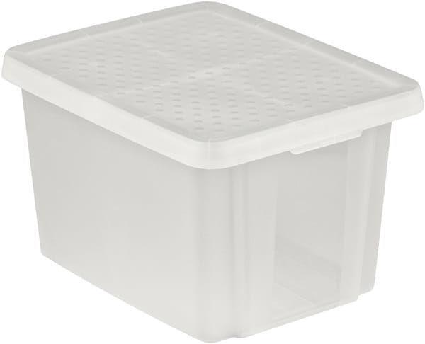 Pojemnik Pudełko Z Pokrywą ESSENTIALS 26L Biały Curver