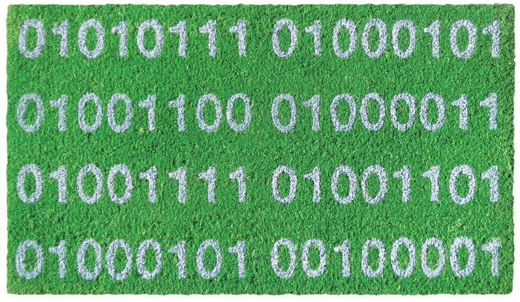LAROOM 13714  wycieraczka binariowelcome, zielona