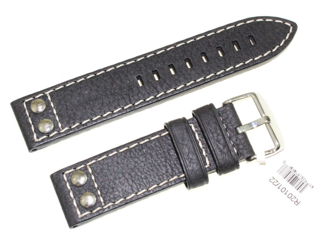 Skórzany pasek do zegarka 22 mm JVD R20101-22