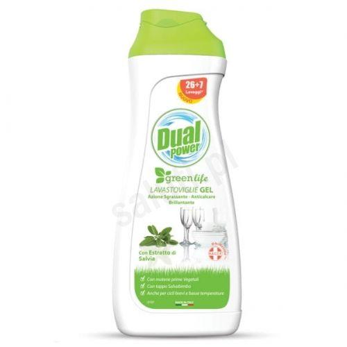 Dual Power GreenLife - ekologiczny żel do mycia naczyń w zmywarce (660 ml - 33 cykle)