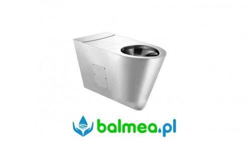 Miska WC dla niepełnosprawnych ze stali nierdzewnej wisząca